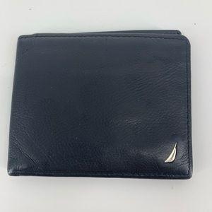 Nautica black leather wallet